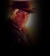 George Lucas Framed Prints - Harrison Ford as Indiana Jones Framed Print by Movie Poster Prints