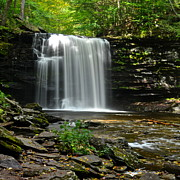 Glen Creek Prints - Harrison Wright Falls Print by Robert Harmon