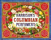 Color Lithographs Photo Acrylic Prints - Harrisons Columbian Perfumery 1854 Acrylic Print by Padre Art