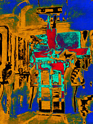 Fantasy Art - Harry Houdini and The Chinese Water Torture in Abstract by Wingsdomain Art and Photography