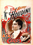 Tricks Prints - Harry Houdini - King of Cards 1895 Print by Padre Art