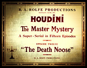 Tricks Photo Framed Prints - Harry Houdini Master of Mystery - Episode 12 - The Death Noose Framed Print by The  Vault - Jennifer Rondinelli Reilly