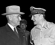 People Of The Night Prints - Harry Truman and MacArthur Print by Underwood Archives