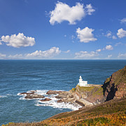 Devon Prints - Hartland Point Devon England Print by Colin and Linda McKie