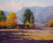 Shed Painting Prints - Hartley Autumn Print by Graham Gercken
