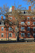 Dormitories Art - Harvard College Dorms in Fall by Jannis Werner