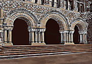 Old Digital Art Originals - Harvard  Entrance to law school   c1900 by Andrzej  Szczerski