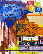 Cambridge Mixed Media - Harvard Square by Damian Barneschi