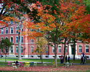 Turning Leaves Prints - Harvard Yard Fall Colors Print by Jannis Werner