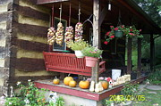 Front Porch Posters - Harvest  Poster by Diane Mitchell