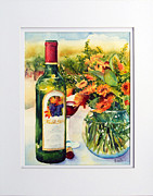 Wine Glass Paintings - Harvest Festival by Richelle Siska