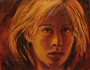 Ground Pastels - Harvest Girl by Debra Lynn Birchell