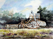 Farm Equipment Prints - Harvest is Over Print by Sam Sidders