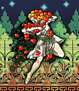 Apples Mixed Media - Harvest Maiden by Tammera Malicki-Wong