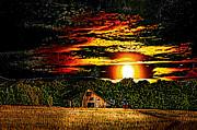 Randall Branham - Harvest Moon and Late Barn