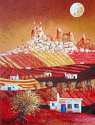 Joe Gilronan Metal Prints - Harvest Moon Olvera Metal Print by Joe Gilronan