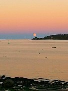 Tammy Cote - Harvest Moon over Casco...