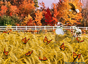 Bride Posters - Harvest Time  Poster by Dolores DeVelde