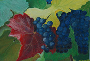 Wine Making Painting Prints - Harvest time Print by Jolanta Benson