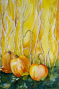 Pumpkins Paintings - Harvest time by Ruthanne Anderson