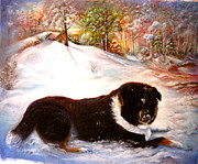 Patricia Schneider Mitchell - Harvey the snow dog