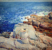 Hassam Framed Prints - Hassams The South Ledges Of Appledore Framed Print by Cora Wandel