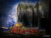Sheds Mixed Media Framed Prints - Hastings Net Shops Framed Print by Chris Knights