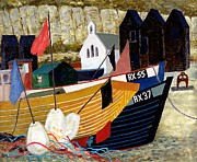 Mooring Painting Posters - Hastings Remembered Poster by Eric Hains