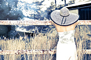 Tall Hat Prints - Hat and Fence Print by Jt PhotoDesign