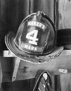 Fire Departments Framed Prints - Hat Number 4 Framed Print by Mel Steinhauer