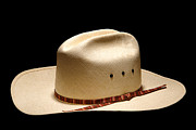 Cowboy Hat Photo Prints - Hat on Black Print by Olivier Le Queinec