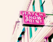 Nashville Photo Metal Prints - Hatch Show Print Metal Print by Amy Tyler