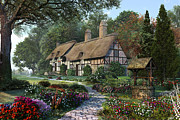 Thatched Cottage Prints - Hathaway Best Print by Dominic Davison