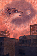 Armageddon Prints - Hati Print by Alan  Hawley