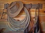 Cowboys Prints - Hats and Chaps Print by Inge Johnsson