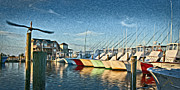 Hatteras Posters - Hatteras Harbor Marina Poster by Williams-Cairns Photography LLC