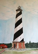 Lighthouse Drawings - Hatteras Lighthouse by Asuncion Purnell