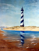 Lighthouse Images Paintings - Hatteras Lighthouse by Lee Piper