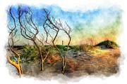 Dan Carmichael - Hatteras Sunrise Painting - Outer Banks