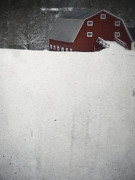 Winter Storm Framed Prints - Haunted Barn Framed Print by Edward Fielding