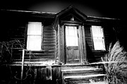 Ghost Town Metal Prints - Haunted Metal Print by Cat Connor