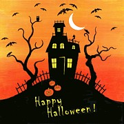 Haunted House Part One Print by Linda Mears