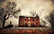 Abandoned Houses Prints - Haunted In The Brick Print by Emily Stauring