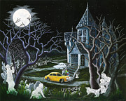 Haunted House Paintings - Haunted Inheritance by Christine Altmann