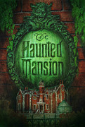 Haunted Mansion  Paintings - Haunted Mansion Poster by Dove McHargue