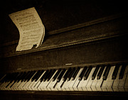 Keyboard Metal Prints - Haunted Melody Metal Print by Amy Weiss