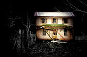 Old Abandoned Houses Posters - Haunted Ohio Poster by Emily Stauring
