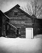 Wooden Building Art - Haunted Old House by Edward Fielding