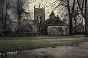 Gothic Horror Posters - Haunted Village Poster by Svetlana Sewell