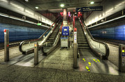 Destinations Digital Art Prints - Hauptbahnhof Underground 2.0 Print by Yhun Suarez